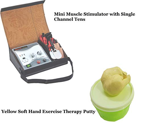 Acco 100 gm Soft Hand Exercise Therapy Putty with Single Channel Muscle Stimulator Machine