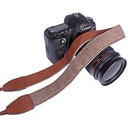 Andoer® Caméra épaule Neck Vintage sangle pour Sony Canon Nikon Olympus Panasonic Pentax DSLR
