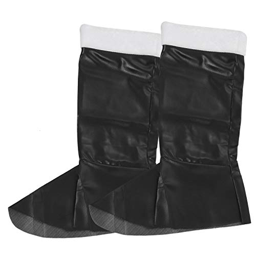 REFURBISHHOUSE Santa Boot Covers Singoli Stivali, Lunghe Suole in Peluche, No Suole