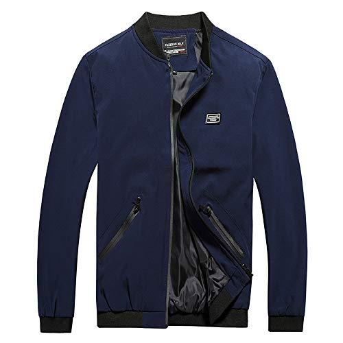 TIFIY Herren Sport Mantel, Oversized Übergangsjacke Bomberjacke Fliegerjacke Sportjacke Natur Herbst Streetwear Sweatshirts...
