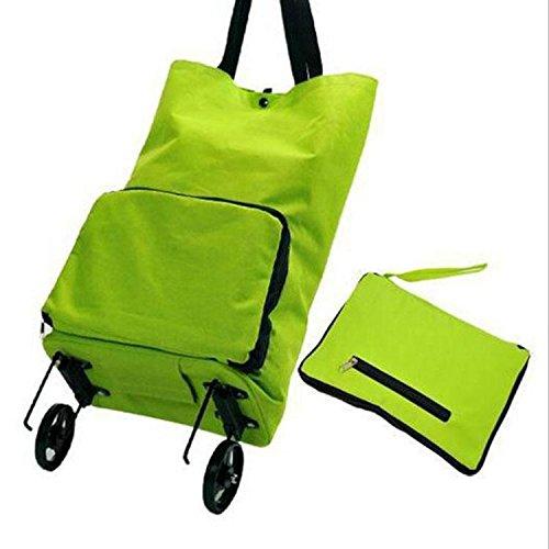 Einkaufstrolley Einkaufswagen klappbar Grasgrün