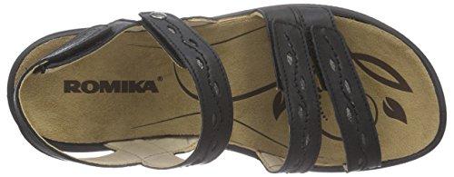 Romika - Ibiza 68, Scarpe col tacco con cinturino a T Donna Nero (Nero (Nero 100))