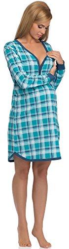 Cornette Camicie da Notte Premaman 654/17 (Blu Zaffiro, M)