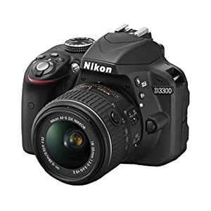 Nikon D3300 24.2MP Digital SLR Camera, Black with AF-P DX NIKKOR 18-55mm f/3.5-5.6G ED VR Lens, Memory Card and Camera Bag
