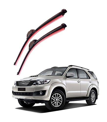 "autofurnish frameless silicon wiper blades for toyota fortuner (d)21"" (p)19"" Autofurnish Frameless Silicon Wiper Blades for Toyota Fortuner (D)21″ (P)19″ 41ZWpPhYbzL"