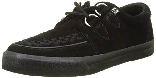 T.U.K. Unisex-Erwachsene VLK D Ring Creeper Sneaker Black Suede High-top, Schwarz, 43 EU