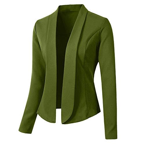 Innerternet Damen Blazer Strickjacke Cardigan Lange Ärmel Elegant Anzugjacke Jacke Anzug Trenchcoat Bolero Oberbekleidung Mantel Outwear Slim Fit Anzug Trenchcoat (Trenchcoat Junior)