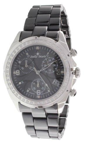 Stella Maris Reloj Pulsera analógico de Cuarzo para Mujer - Correa cerámica Premium - Esfera de Nácar - Diamantes y Elementos Swarovski - STM18SM24