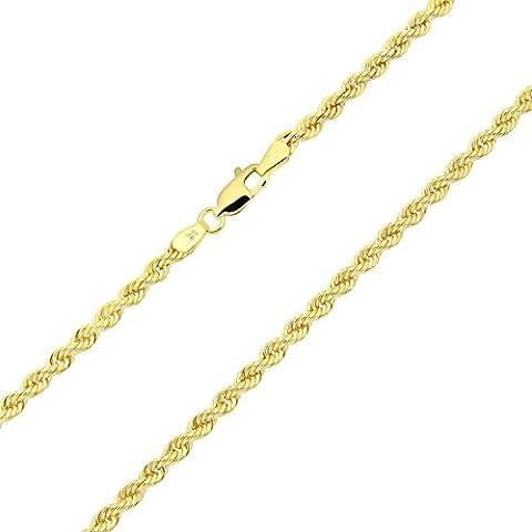 14 Karat / 585 Gold Kordelkette Gelbgold Unisex Kette -