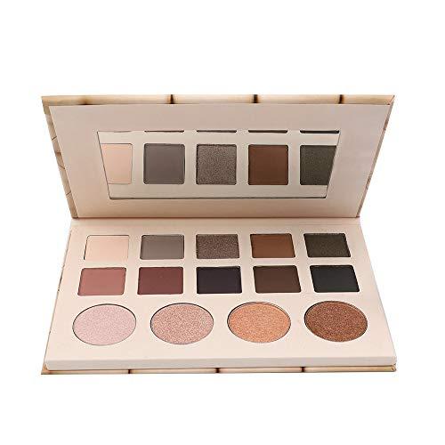 Beisoug 14 Couleurs Palette de Poudre Matifiante Ombre à Paupières Cosmétiques Beauté Maquillage