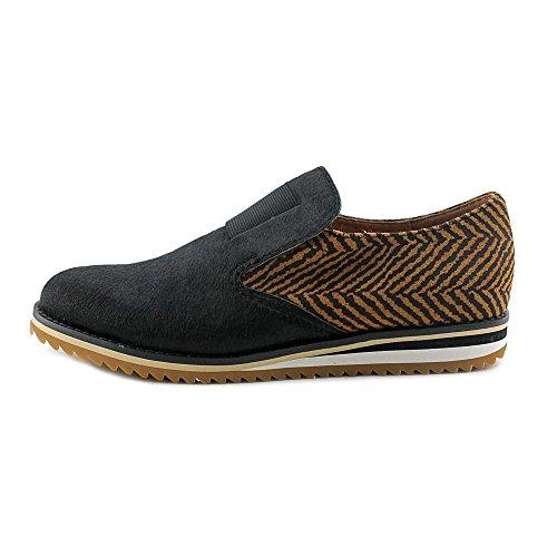 All Black Chevron Sneaker Cuir Mocassin Tiger