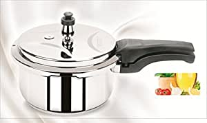Varun Sigma Stainless Steel Outer Lid Pressure Cooker, 8 Litres