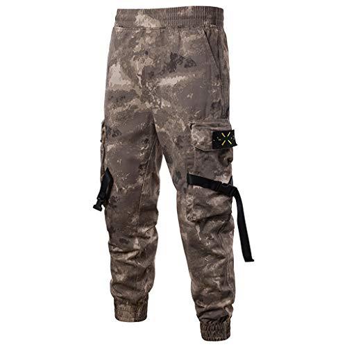TEBAISE Herren Outdoor Tactical Hose Cargo Trousers Bermuda Pants Sommer Arbeitshose Wanderhose Trekkinghose Funktionshose Berghose mit Vielen Taschen Winddicht Atmungsaktiv für Jagd Wandern Camping