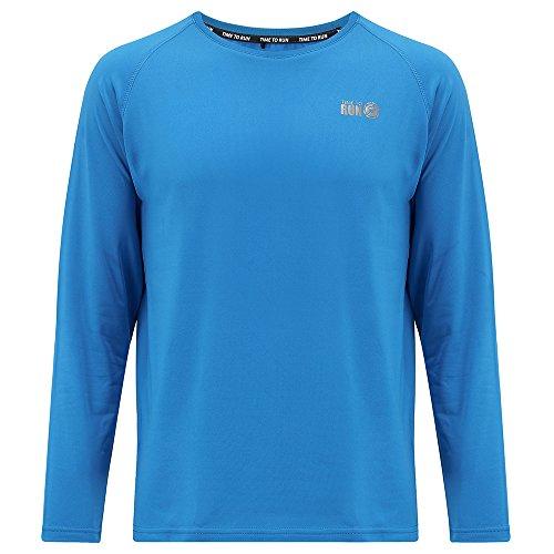 Time to Run Leichtgewichtiges Thermo-Lauf-T-Shirt für Herren mit Rundhalsausschnitt L Calypso Blau (Thermo Lauf Shirt)
