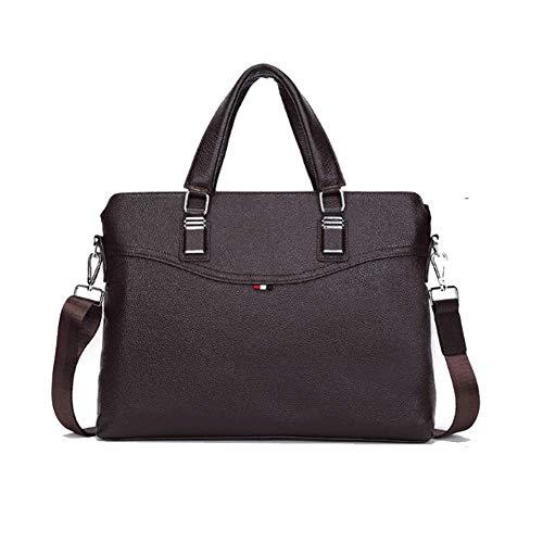 Weiche Aktentaschen (Convertible Messenger Bag Umhängetasche Laptop-Tasche Handtasche Business Aktentasche Multifunktions-Reiserucksack für 14-Zoll-Laptop für Männer/Frauen Casual weiche Leder Mode Aktentasche)