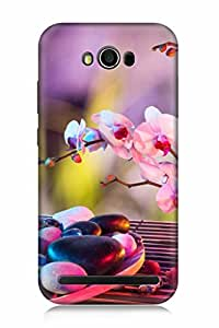 FABCASE Premium realistic photography pic art pink filter white flowers stones macro unique plant photo art true live elements Printed Hard Plastic Back Case Cover for Asus Zenfone Max ZC550KL
