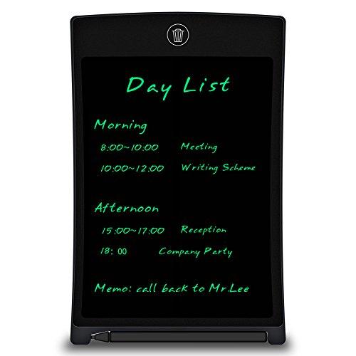 LCD Writing Tablet - 8.5 Zoll LCD Schreibplatte Papierlos Grafiktablet mit Schlossknopf Brighter Writing, tragbare elektronische Reißbrett mit Stylus für Home Schulamt Memo Notebook (Stylus Lcd)