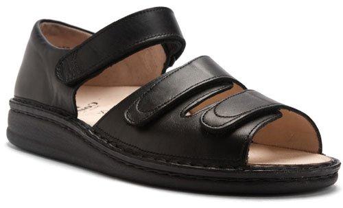 Finn Comfort  Baltrum, sandales mixte adulte Noir - Noir