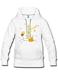 Spreadshirt Little Prince With Fox and Rose Women's Premium Hoodie