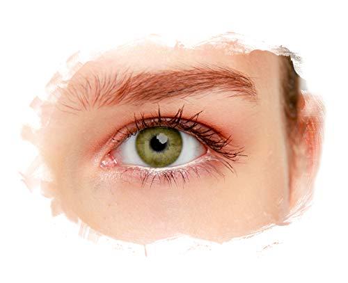 eyelee - Farbige Kontaktlinsen, Braun, Monatslinsen OHNE Stärke, hohe Deckkraft, angenehmes Tragegefühl, natürlicher Look, 2 Stück