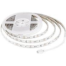 AUKEY Striscia a LED RGB Catene Luminose 5M 300 LED 5050SMD Impermeabile 720 LM 12V con Telecomando, Decorazione Ideale per Giardino, Casa, Bar, Festa, Natale, Nozze, ecc (LT-SS1)