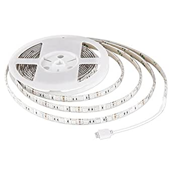 AUKEY LT-SS1 Striscia a LED RGB Catene Luminose 5M 300 LED 5050SMD Impermeabile 720 LM 12V con Telecomando, Decorazione Ideale per Giardino, Casa, Bar, Festa, Natale, Nozze, ecc