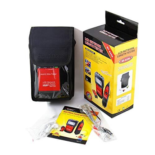 Telefon Kabellänge Tester, Netzwerk-Ethernet-Line-Finder Digital-LAN Telefon Koaxial Checker Tracker-LCD-Display, für RJ45, RJ11, BNC
