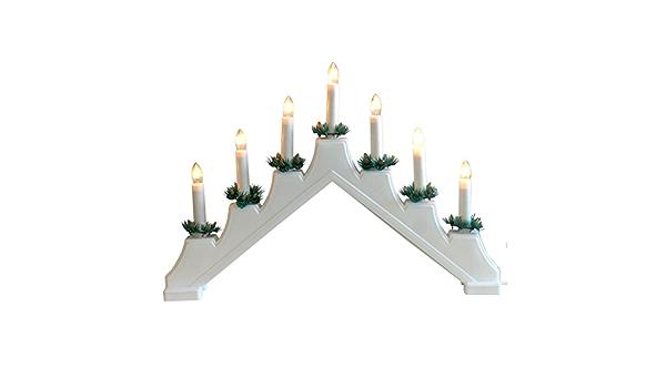 Schwibbogen XL Lumières DEL Arc Fenêtre Décoration Noël Bois Fenêtre Arc
