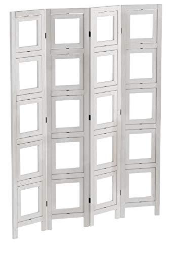 Mendler Paravent Fotogalerie II, Raumteiler Trennwand Sichtschutz Foto-Paravent, 160x125cm ~ weiß