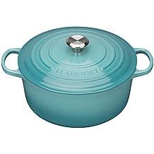 Le Creuset Evolution - Cocotte redonda, de hierro colado esmaltado, 24 cm, color azul caribe