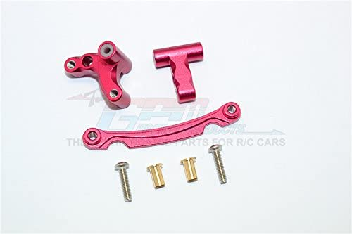 Axial Yeti Jr. SCORE SCORE SCORE Trophy Truck (AX90052) Upgrade Pièces Aluminium Steering Assembly - 3Pcs Set Red   Promotions  f02666