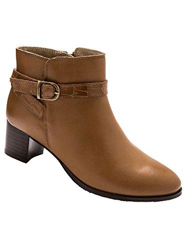 Pediconfort - Boots fermées par glissière Camel