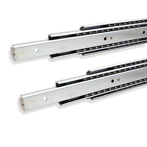 1 Paar (2 Stück) SO-TECH® Vollauszüge 250-750 mm mit 80 Kg Tragkraft Schubladenschiene Teleskopschiene
