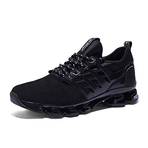 Scarpe da ginnastica uomo donna running sportive basket basse sneakers nero rosso verde 38-45 nero 39