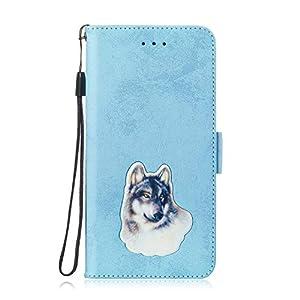 LARPOTE für Redmi Note 5 PRO Hülle, Premium Leder Tasche Flip Wallet Case [Standfunktion] [Kartenfächern] PU-Leder Schutzhülle Brieftasche Handyhülle-Blau.