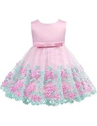 Yishelle Abito da Ragazza Formale Vestito da Ragazza Vestito da Principessa  di Prua Abbigliamento per Bambini 571d4213f77