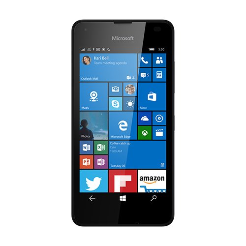 "Microsoft Lumia 550 - Smartphone de 4.7"" (1 GB de RAM, 8 GB, Windows 10) color negro"