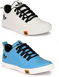 Lavista Men's Sky-Blue And White Sneaker Casual Shoe