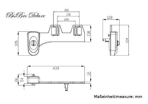BisBro Deluxe Bidet 1000 - Dusch-WC für Intimpflege - Taharat