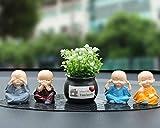 Auto-Ornamente - Auto Dekoration Auto Kreativ Vier Ist Nicht Klein Mönch Niedlich Autoinnenraum Männer Und Frauen Puppen High-End-Autozubehör Auto Kreatives Handwerk Wohnkultur Cartoon Puppe