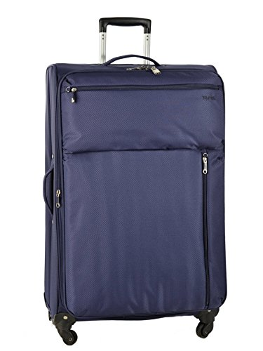 Valise Souple Extensible Travel'air Bleu Polyester