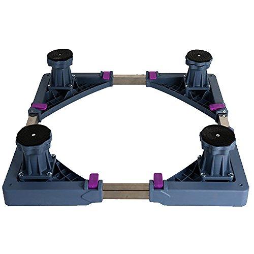 Rouleau télescopique multifonctionnel de chariot de meubles de base mobile réglable avec 4 roues pivotantes réglables de caoutchouc de pieds forts pour la machine à laver et le réfrigérateur de dessiccateur ( Color : Gray , Style : 4 feet )