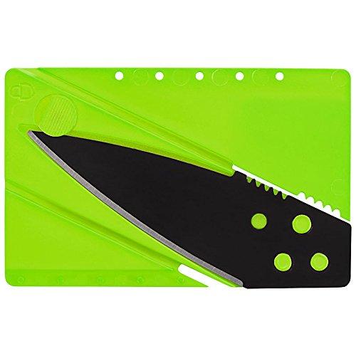 Preisvergleich Produktbild Kreditkarten-Messer ,Kreditkartenmesser, Faltmesser, Klappmesser, Camping-Messer, Taschenmesser Messer in grün, Outdoor/Survival Messer