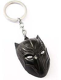 RJMSAS Black Panther Infinity War Avengers Metal Keychain Black Color | Key Ring For Car Bike Home Keys | Key...