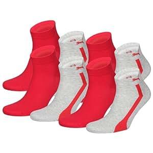 PUMA Unisex Sustainable Quarters Sport Socken Sportsocken 8er Pack light grey melange 035 - 35/38