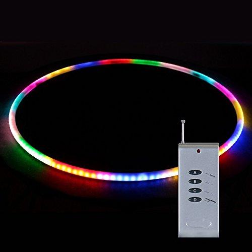 Hoopomania LED Hula Hoop PRO I mit Fernbedienung und 164 SMD-Leuchten, Durchm...