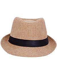 Mens Fedora multipurpose stylish Hat (khakhi) offer for 1 day