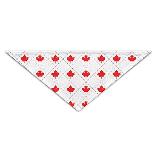 Gorgeous Socks Lovely Canada Maple Leaves Gitterdruck Polyesterfaser 100% Pet Schals Zubehör Einstellbar für alle Größen Hunde Katzen Haustiere