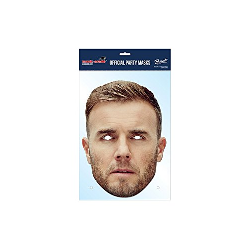 Arade Kostüme Mask (Gary Barlow Official Face Card Mask, Take That, Celebrity/Pop Star Fancy)