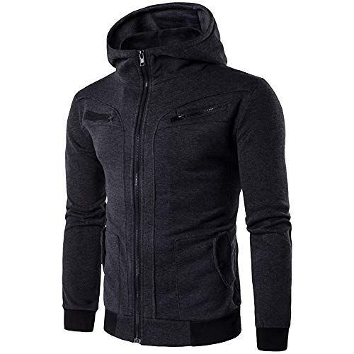 Oliviavan,Mode Herren Herbst Winter Lässige Zipper Thermo Hoodie Warme Mäntel Tops Business Kleidung Kapuzenpullover Jacke Sweatjacke Zipper Sweatshirt Strick